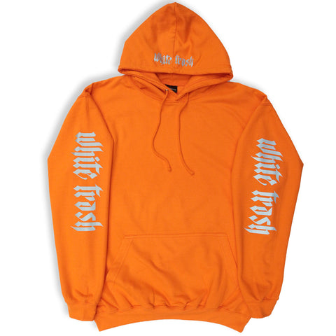 ORANGE 'WHITE TRASH' OVERSIZED HOODIE (3M)