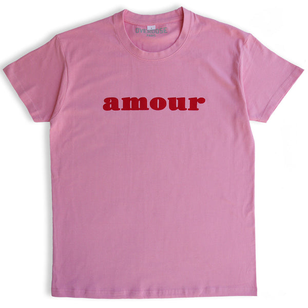 AMOUR TEE SHIRT (PINK/ RED)