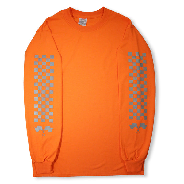 "ORANGE LONG SLEEVES T SHIRT ""RACING CLUB"""