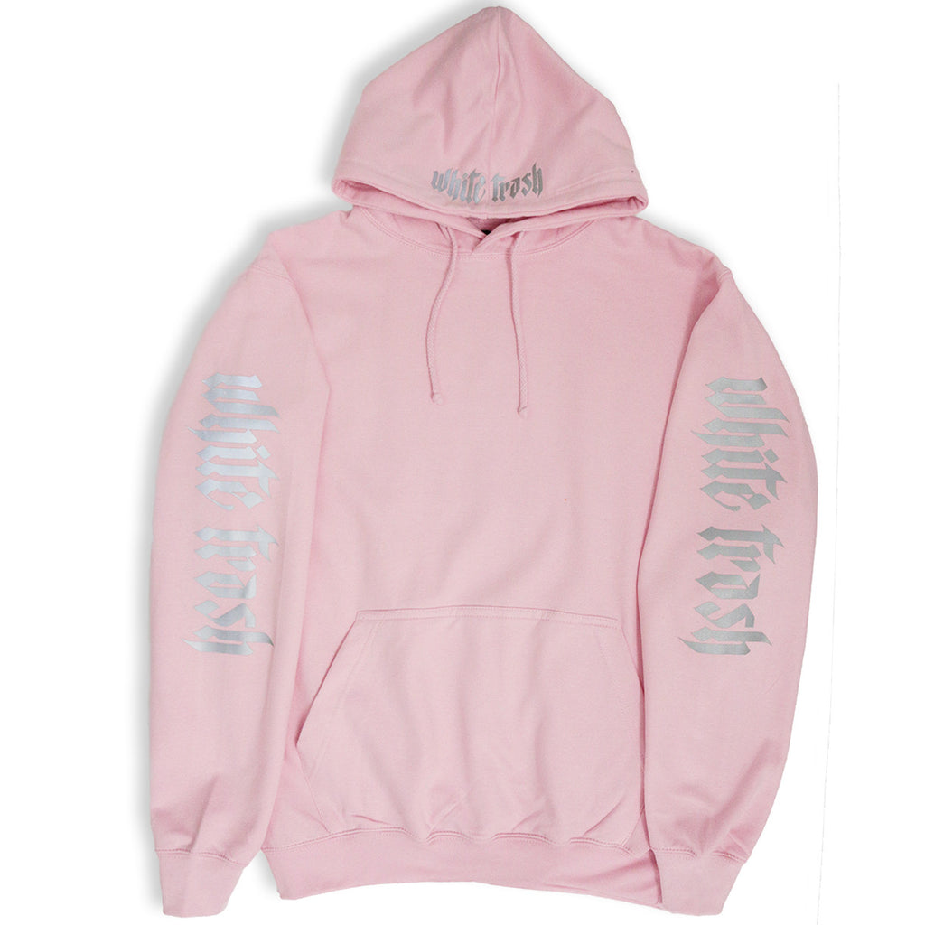 LIGHT PINK 'WHITE TRASH' OVERSIZED HOODIE (3M)