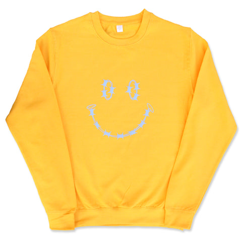 """HAVE A NICE DAY"" SWEATSHIRT - MUSTARD YELLOW"