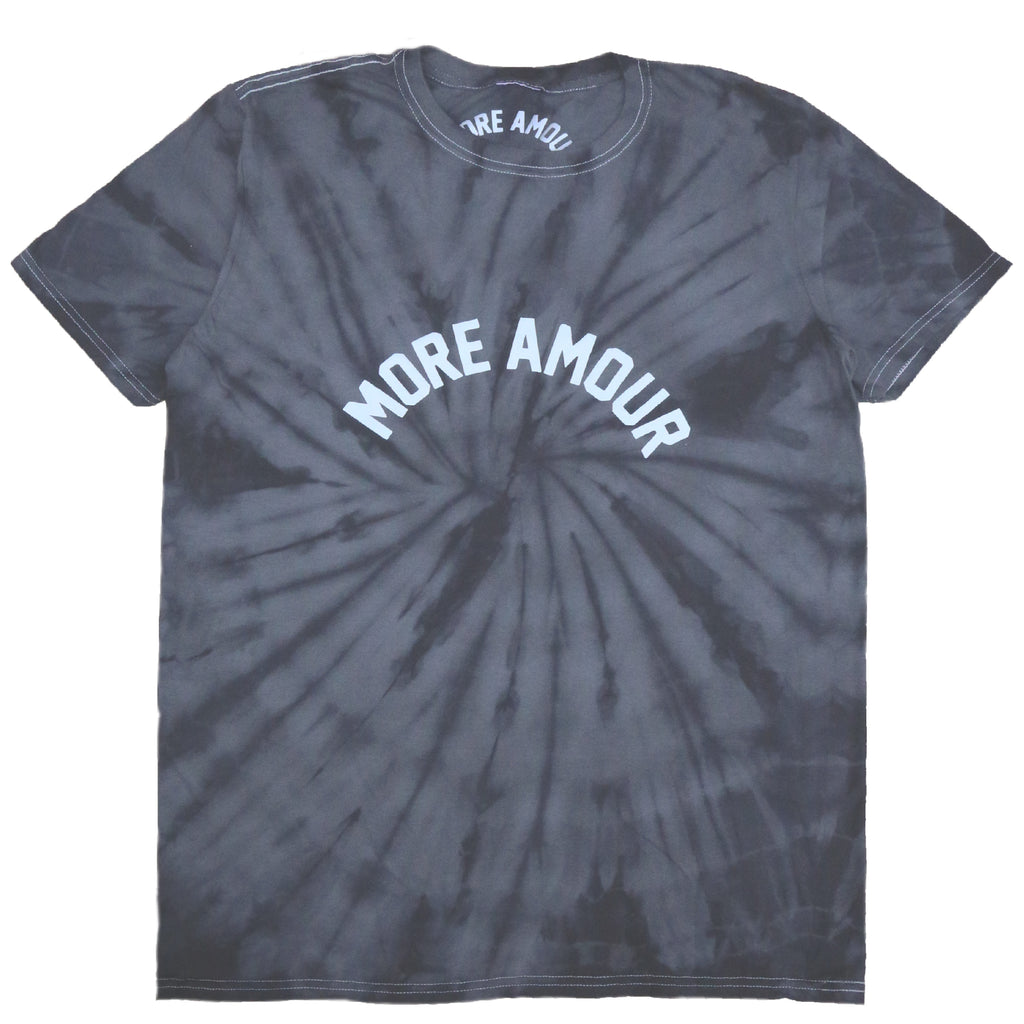 """MORE AMOUR"" BLACK TIE & DYE TEE SHIRT"