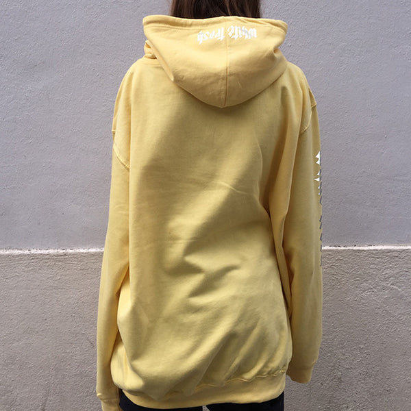 LEMON 'WHITE TRASH' OVERSIZED HOODIE (3M)