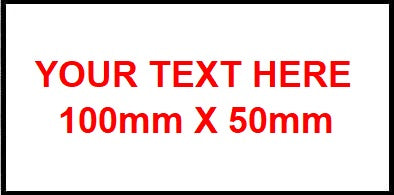 100mm x 50mm Traffolyte Label White / red / white