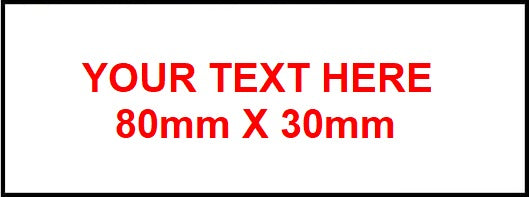 80mm x 30mm Traffolyte Label white / red / white
