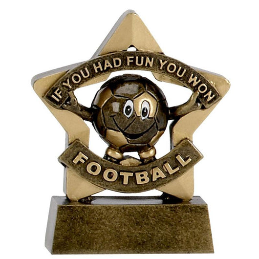 A1129 - Mini Star Football Trophy (8cm)