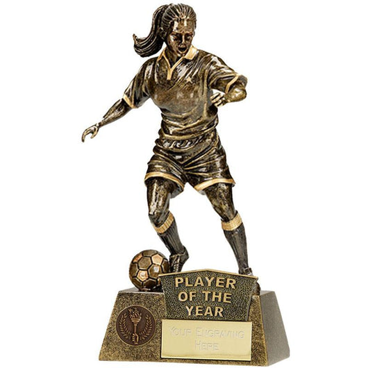 A1201C.03 - Pinnacle Player of the Year Female Football Trophy