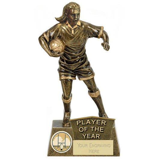 A1328C.03 - Pinnacle Female Player of the Year Rugby Trophy