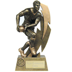 A1520 - Gold Flash Rugby Trophy (3 Sizes)