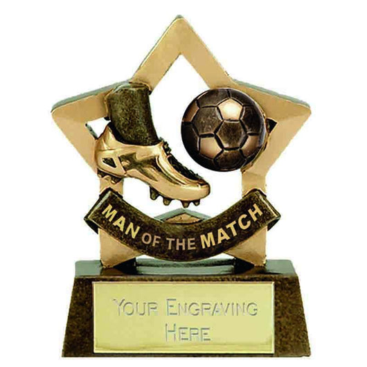 A1698 - Mini Star Football Trophy (8cm)