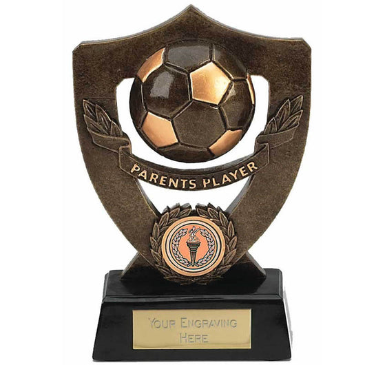 A803 - Parent's Player Celebration Shield Football Trophy