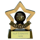 A965 - Mini Star Netball Trophy (8cm)