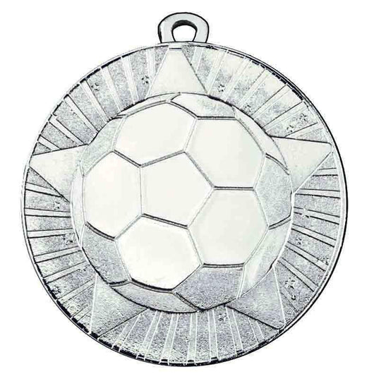 Silver State 60mm Football Medal