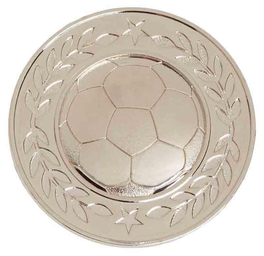 Silver Halo Heavy Weight Football Medal