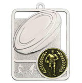 Silver Boot & Ball Rugby Medal