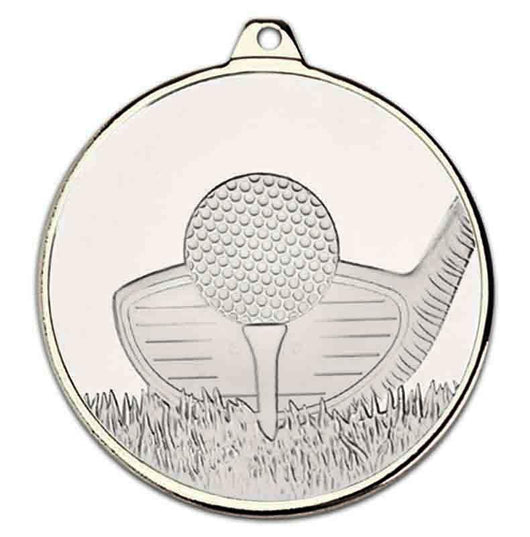 Silver Frosted Glacier Golf Medal