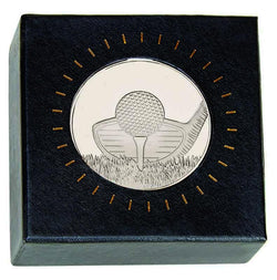 AM2009.02BS - Silver Frosted Glacier Golf Medal, including Capsule & Case