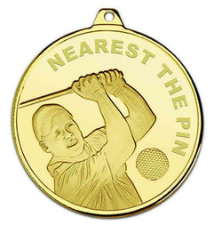 Gold Nearest The Pin Golf Medal