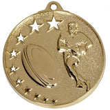 Gold San Francisco Rugby Medal RUGBY MEDALS STORE