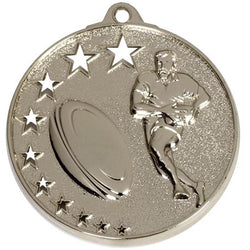 BUY RUGBY MEDALS ONLINE Silver San Francisco Rugby Medal