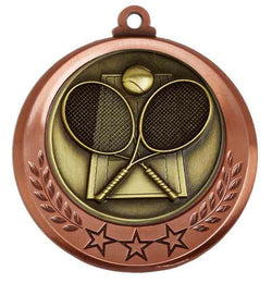 Bronze Spectrum Tennis Medal