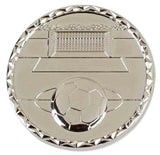 Silver Aspect Heavy Weight Football Medal