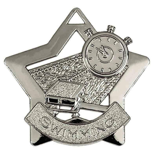 Silver Mini Star Swimming Medal