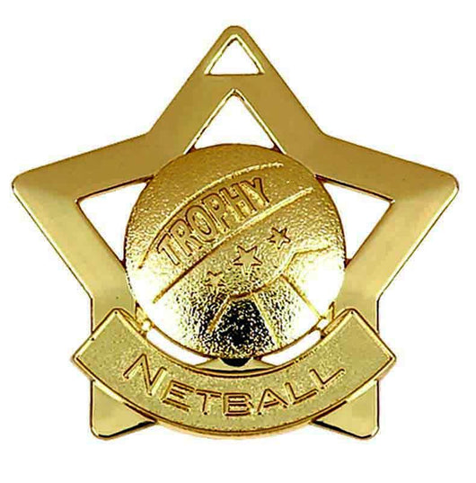 Gold Mini Star Netball Medal
