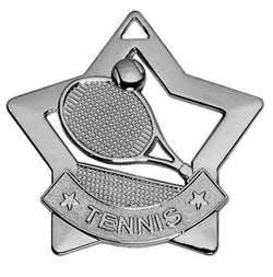 AM727S - Silver Mini Star Tennis Medal
