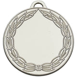 AM856S - Silver Classic Wreath Medal