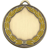 AM859B - Bronze Classic Wreath Colour Medal