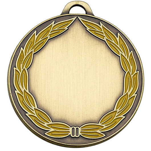 AM859B - Bronze Classic Yellow Wreath Medal