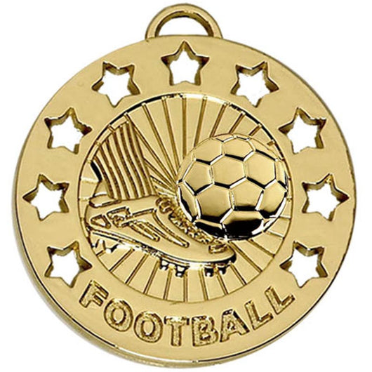 Gold Football Star Medal