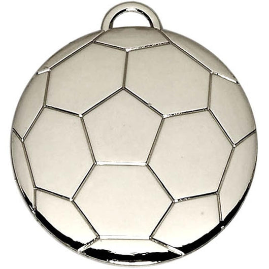 Silver Football Ball Medal