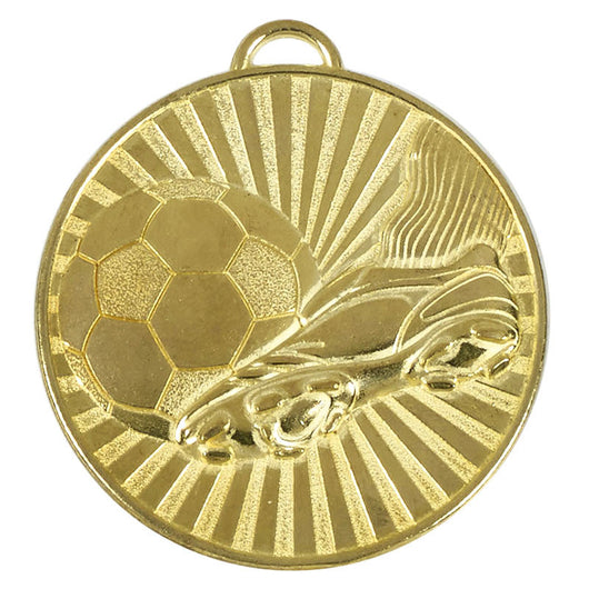 Gold Football Helix Boot Medal