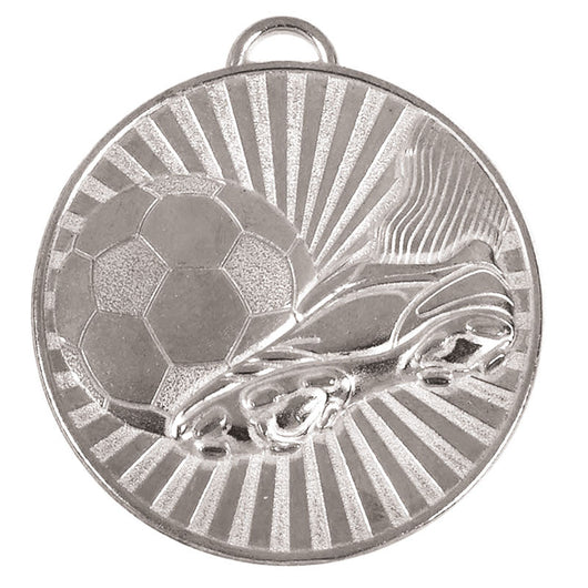 Silver Football Helix Boot Medal