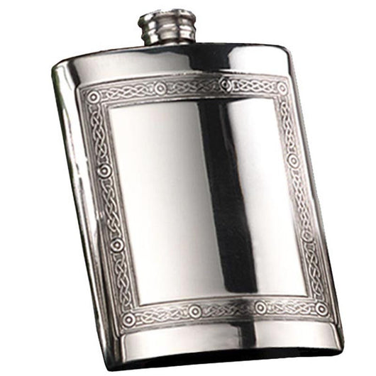 6oz Mull Celtic Pewter Hip Flask