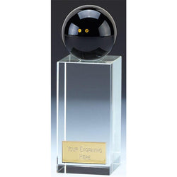 Clarity Crystal Glass Squash Trophy