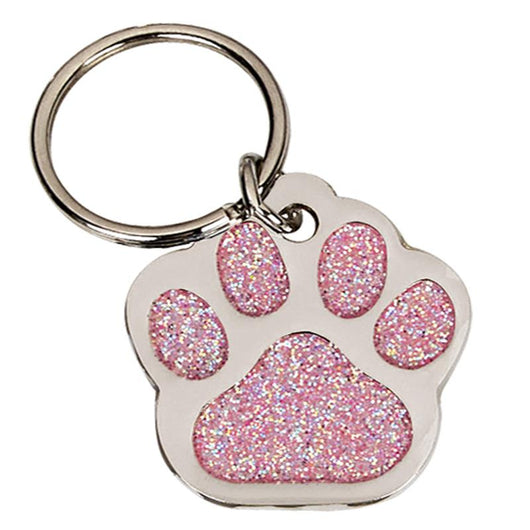 DT018 - Pink Paw Pet Tag 28mm
