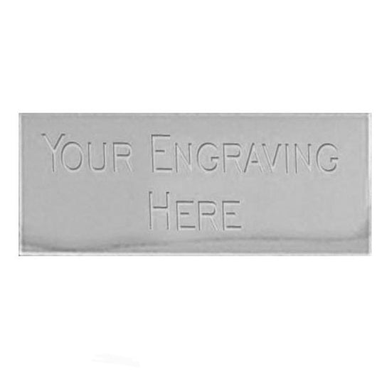 58mm x 19mm Silver aluminium plaque including engraving