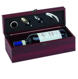 GS005 - Rosewood Piano Finish Single Wine Presentation Box