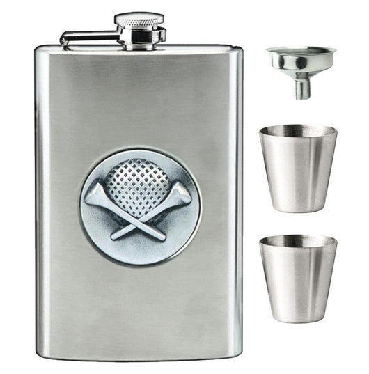8oz Stainless Steel Golf Hip Flask