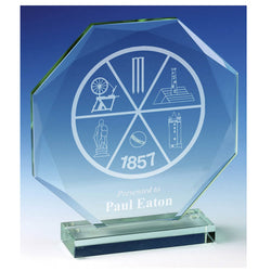 JC030 - Diamond Edge Jade Glass Award