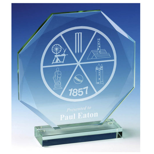 JC030 - Diamond Edge Jade Glass Award (4 Sizes)