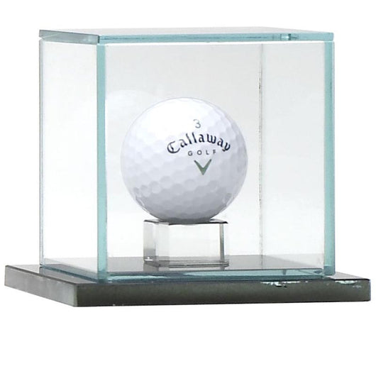 Calibre Ball Capsule Glass Golf Trophy