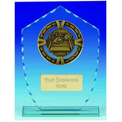 KB020AS - Varsity Glass Swimming Trophy