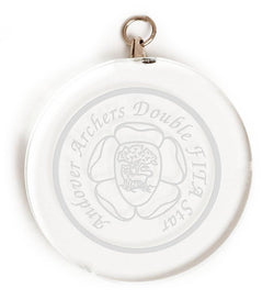 Circle Glass Engraved Medal