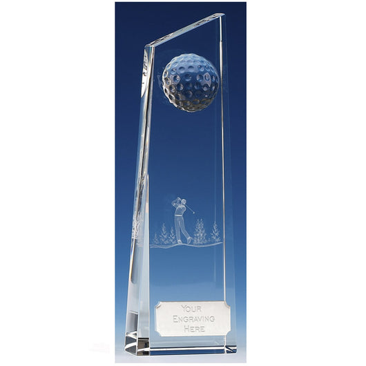 Kenmore Crystal Glass Golf Trophy