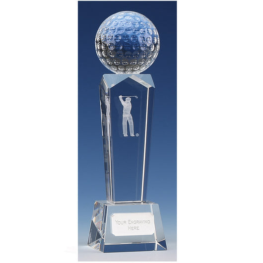 KK023 - Campbell Crystal Glass Golf Trophy (2 Sizes)