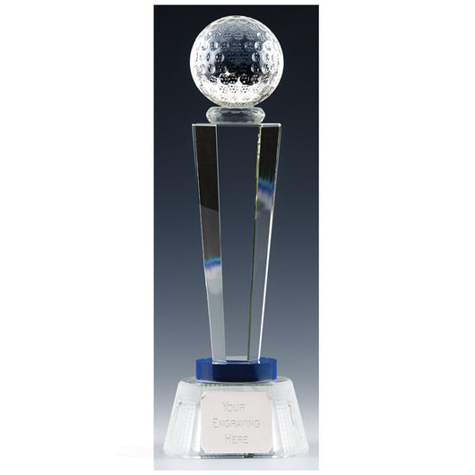 Stewart Crystal Glass Golf Trophy